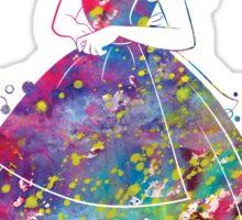 Alice in Wonderland Watercolor Sticker