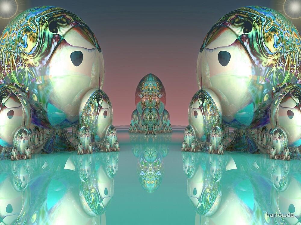 Matryoshki (Матрешки) Doll Faceoff on Mirror Lake by barrowda