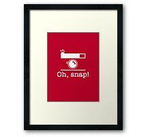 Oh, Snap! Framed Print