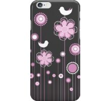 Whimsical Garden Birds Florwers iPhone Case/Skin