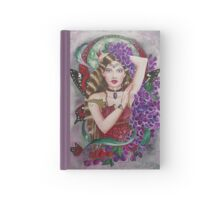 Lilac red admiral fairy faerie fantasy Hardcover Journal