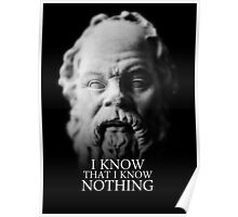 I know that I know nothing - Socrates Poster