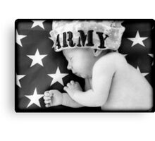 Army Baby Canvas Print