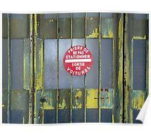 Garage gate Poster