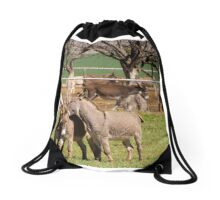 Donkey Rescue Drawstring Bag