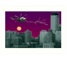 Lioncopter in the City Art Print