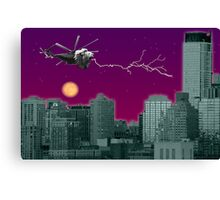 Lioncopter in the City Canvas Print