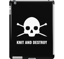KNIT AND DESTROY iPad Case/Skin
