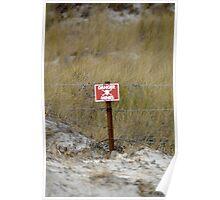 Falklands minefield Poster