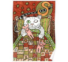 The Ministers Cat Was A Sleeping, Snoring, Snuggling Cat Poster