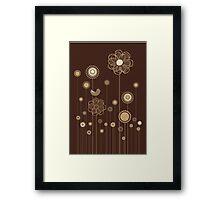 Whimsical Garden Birds and Flowers Framed Print