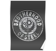 Brotherhood of Steel (Battle Worn Effect) Poster