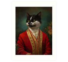 The Hermitage Court Waiter Cat Art Print