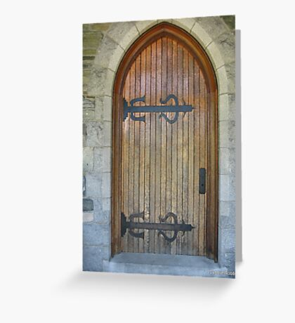 Evergreen Door Greeting Card