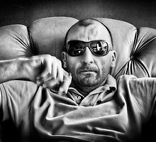 Self Portrait in Black and White by Hany  Kamel