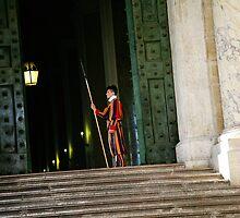 Swiss Guard at the Vatican by tamarakenyon
