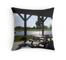 Waiting on the sun to set Throw Pillow