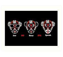 No Evil Monkey Art Print