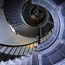 Florida lighthouse stairs II by Ted Petrovits