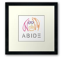 The Dude Abides: Imagine Framed Print