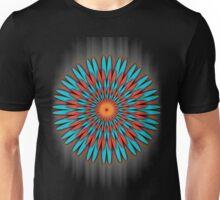 Orange & Blue Flower! Unisex T-Shirt