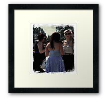Saturday Social Framed Print