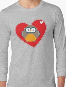OWL SERIES :: heart hoot 1 Long Sleeve T-Shirt