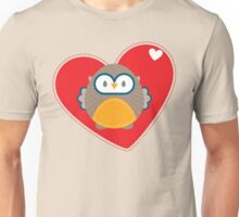 OWL SERIES :: heart hoot 1 Unisex T-Shirt