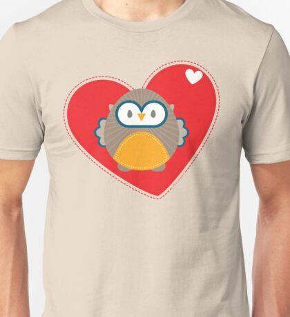 OWL SERIES :: heart hoot 1 Unisex T-Shirt