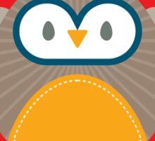 OWL SERIES :: heart hoot 1 Sticker