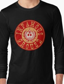 Infamous Grouse RED emblem Long Sleeve T-Shirt