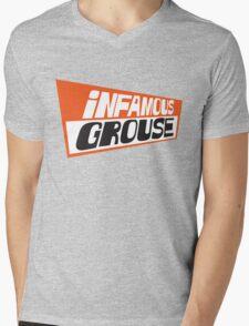 Infamous Grouse Retro logo Mens V-Neck T-Shirt