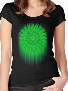 Green Flower! Women's Fitted Scoop T-Shirt
