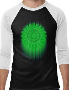 Green Flower! Men's Baseball ¾ T-Shirt