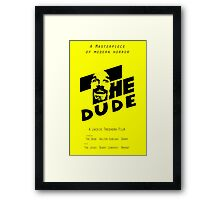 The Dude, Inspired by The Shining Framed Print
