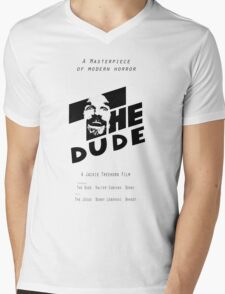 The Dude, Inspired by The Shining Mens V-Neck T-Shirt