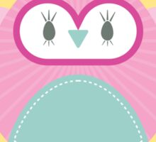 OWL SERIES :: heart hoot 2 Sticker