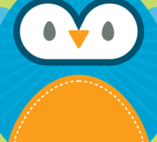 OWL SERIES :: heart hoot 3 Sticker
