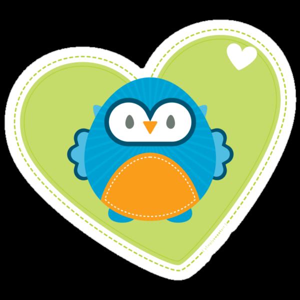 OWL SERIES :: heart hoot 3 by Kat Massard