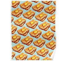 Buttered Toast Pattern Poster