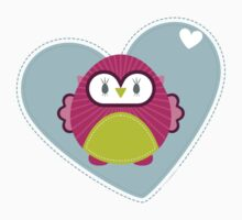 OWL SERIES :: heart hoot 4 by Kat Massard