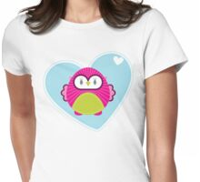 OWL SERIES :: heart hoot 4 Womens Fitted T-Shirt