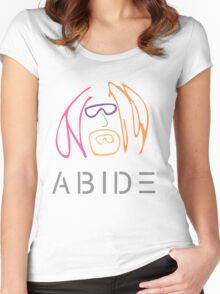The Dude Abides: Imagine Women's Fitted Scoop T-Shirt