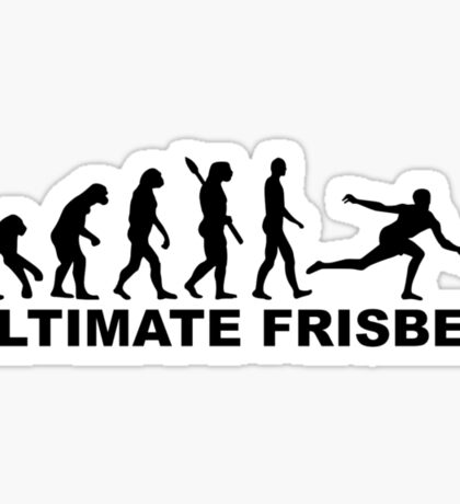 Evolution Ultimate Frisbee Sticker