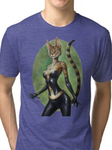The Royal Cats' Girlfriend Feline Tri-blend T-Shirt