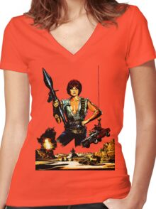 Cherry 2000 Women's Fitted V-Neck T-Shirt