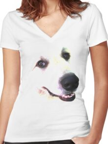 Great Pyrenees Women's Fitted V-Neck T-Shirt