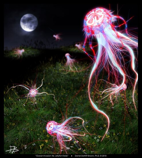 Ocean Invasion #6: Jellyfish Fields by Daniel Brown