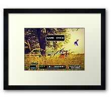 Duck Hunt pixel art Framed Print
