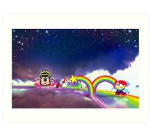 Rainbow Islands retro pixel art Art Print